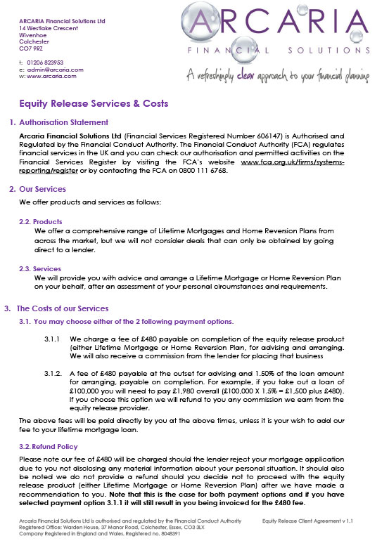 client agreement equity release pdf