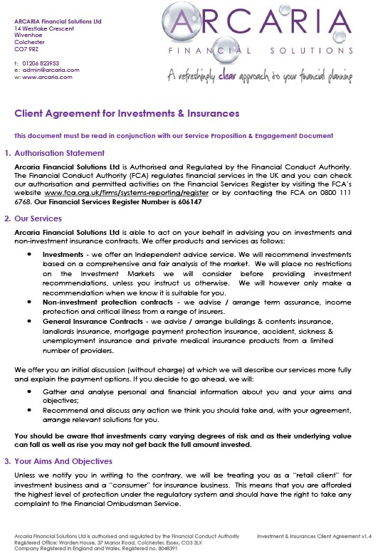 client agreement investments pdf