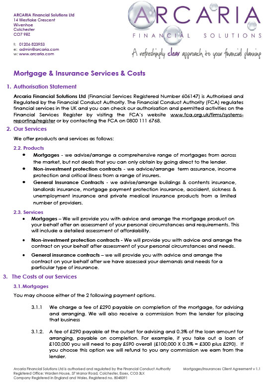 client agreement mortgages pdf